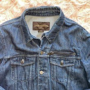 Authentic Louis Vuitton denim jacket size 54